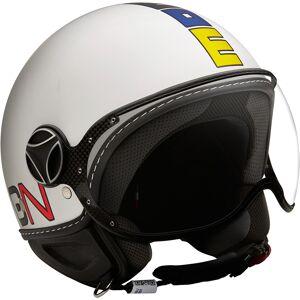 MOMO FGTR Classic Multicolor Jet Helmet White S