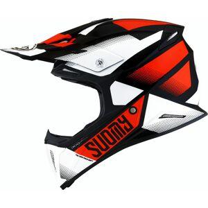 Suomy X-Wing Grip Motocross Helmet Black White Orange M