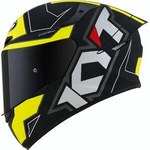 KYT TT Course Electron Helmet Black Yellow XS
