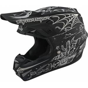 Lee Troy Lee Designs SE4 Stranded MIPS Carbon Motocross Helmet Black S