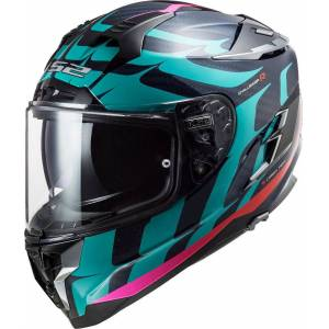 LS2 FF327 Challenger Flames Carbon Helmet  - Size: Extra Small