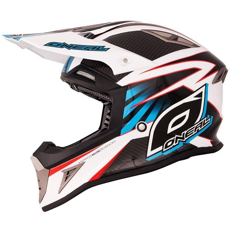Oneal 10Series Carbon Cross Helmet White Red Blue S