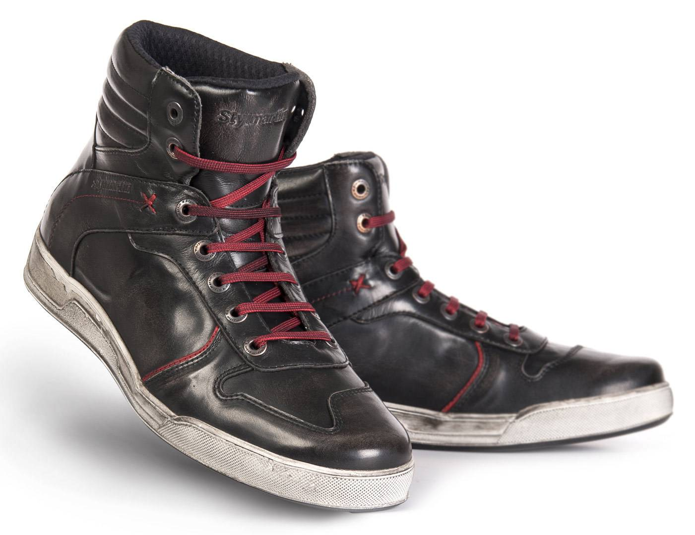 Stylmartin Iron Motorcycle Shoes Black Red 37