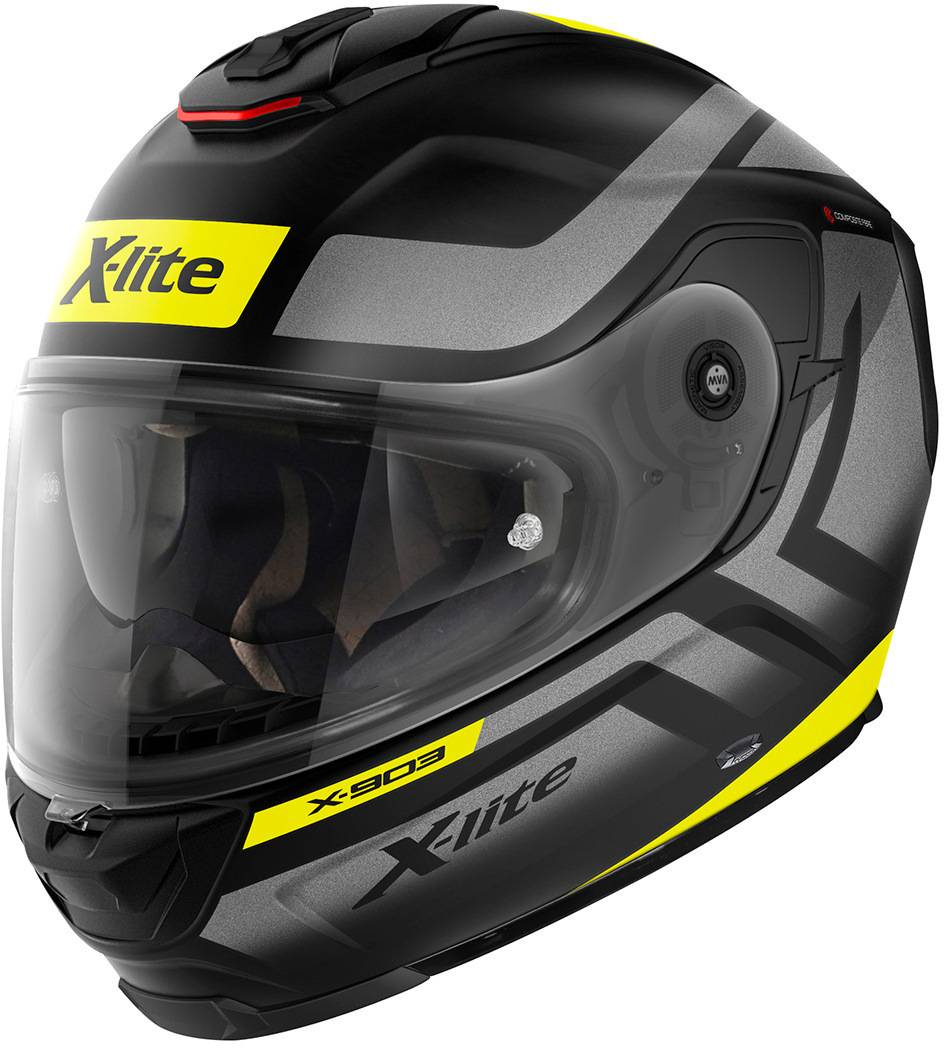 X-lite X-903 Airborne N-Com Helmet Black Yellow Silver XL