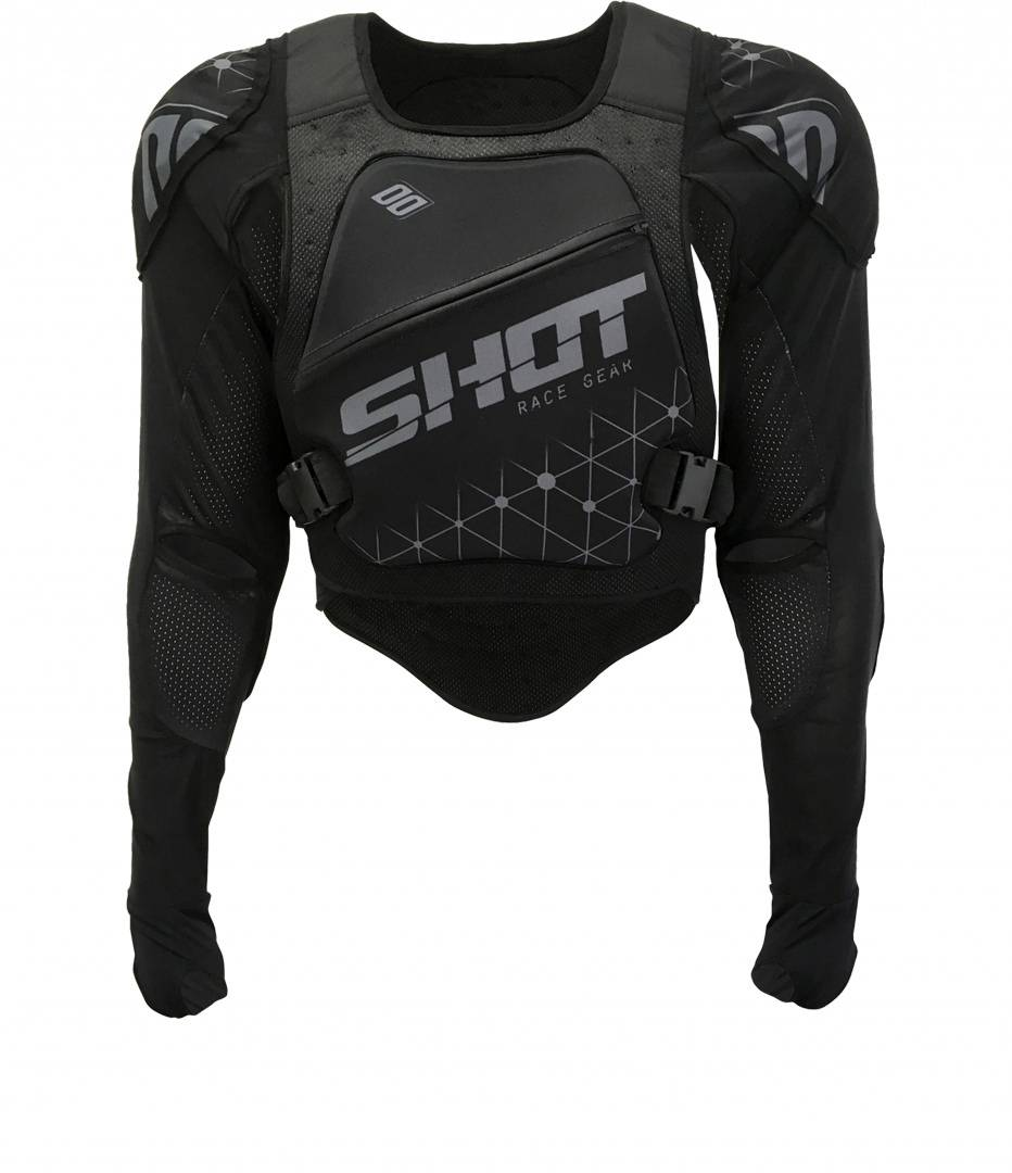 Shot Ultralight Kid Kids Motorcycle Protector Jacket Black L