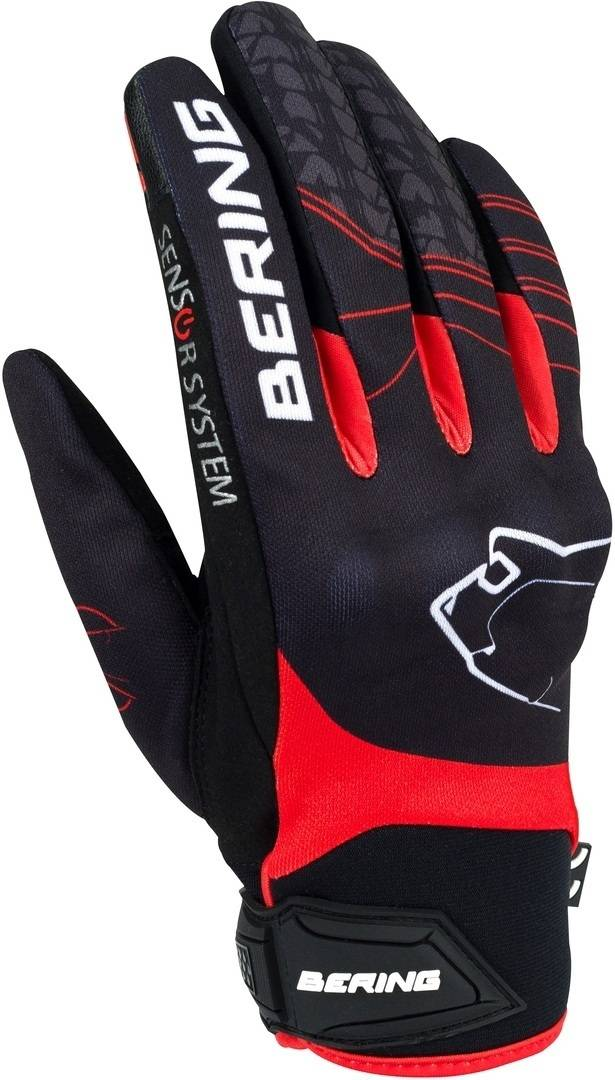Bering Grissom Women's Motorcycle Gloves Black Red XL