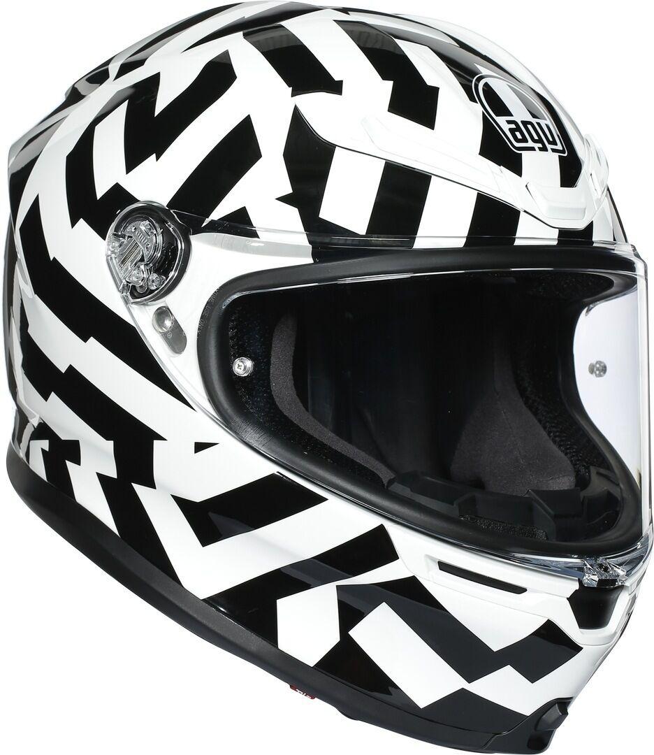 AGV K-6 Secret Helmet Black White M L