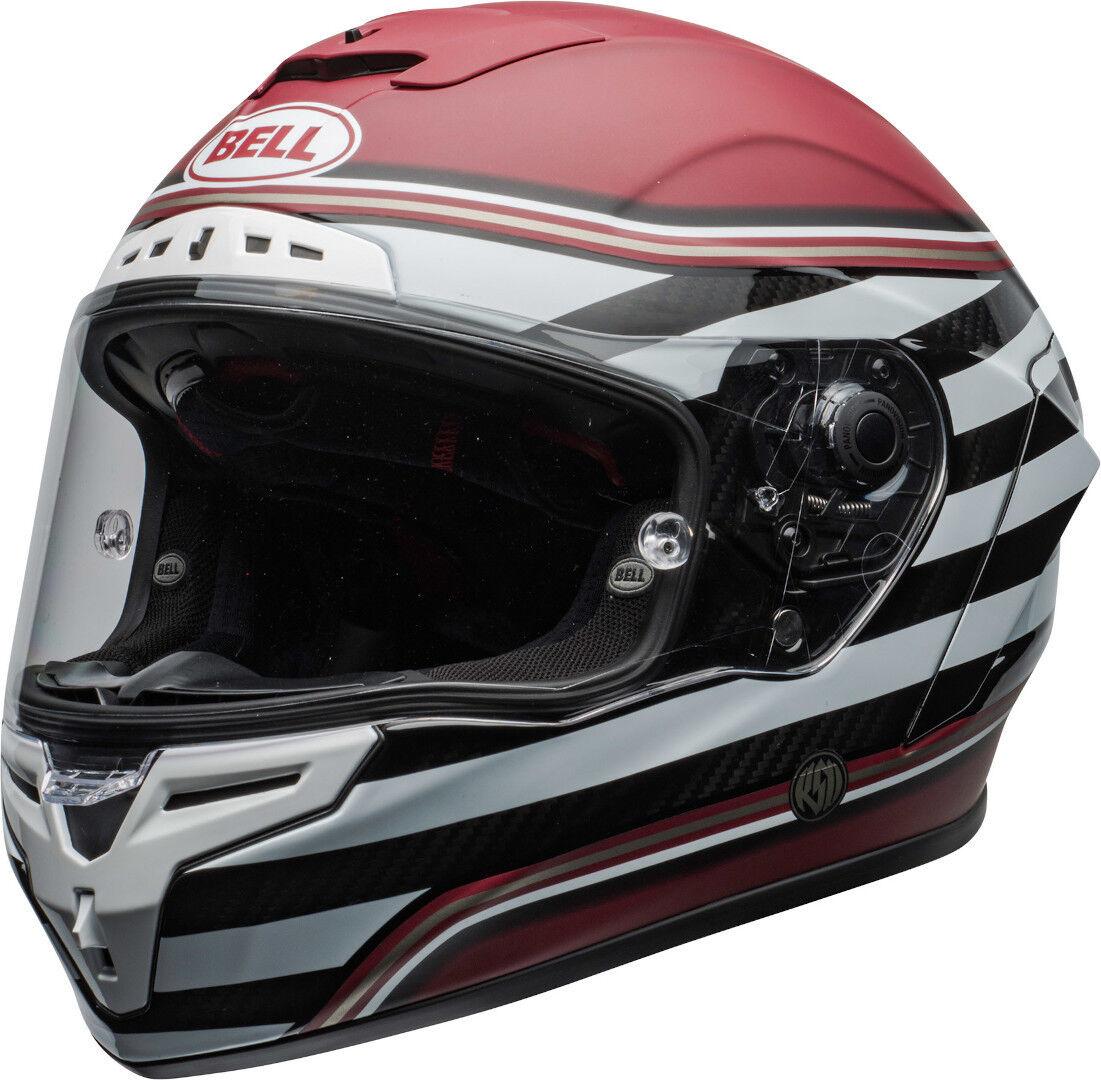 Bell Race Star DLX RSD The Zone Helmet White Red XL