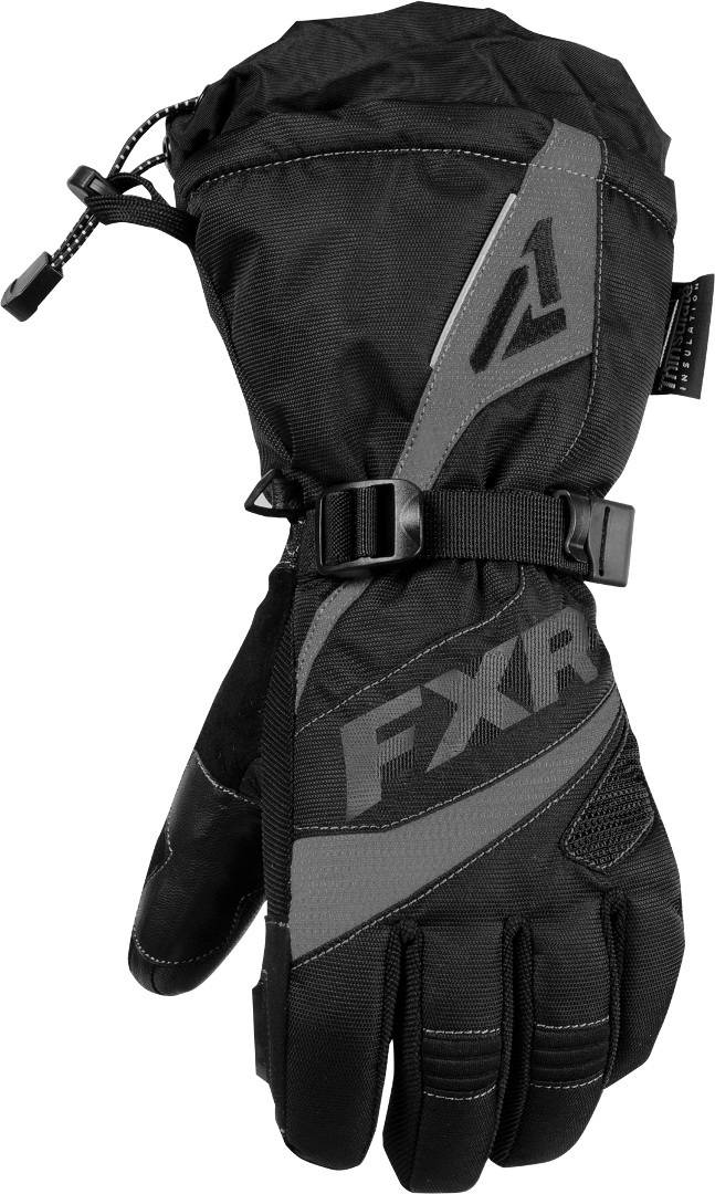 FXR Fusion Ladies Winter Gloves Black Grey XS