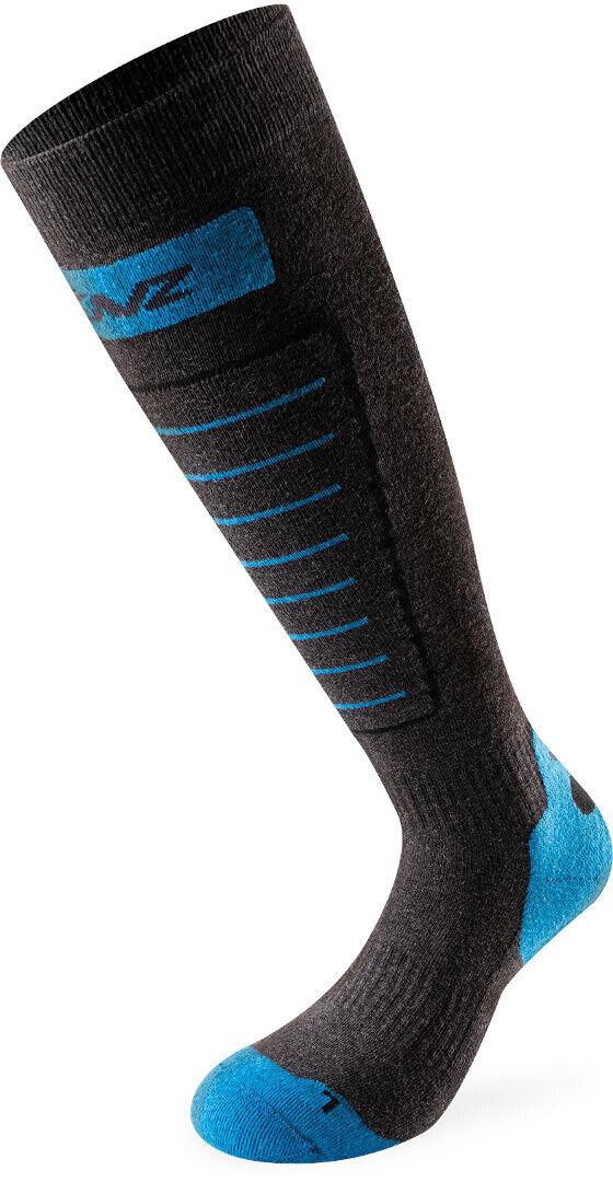 Lenz 1.0 Skiing Socks Grey Blue 39 40 41