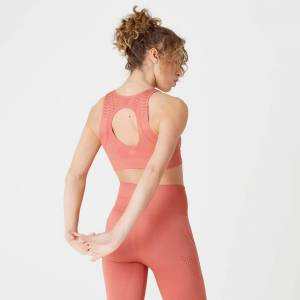 Myprotein MP Women's Shape Seamless Ultra Sports Bra – Copper Rose - L