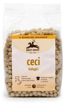 ALCE NERO SpA Alce Ceci Secchi Bio 400g