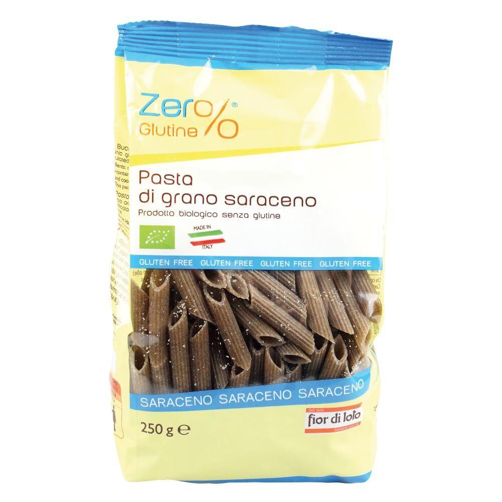 biotobio srl il fior di loto zero% glutine penne grano saraceno integrale 250 g