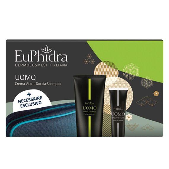 zeta farmaceutici spa euphidra uomo beauty box 1 doccia shampoo + 1 crema viso mat + 1 beauty