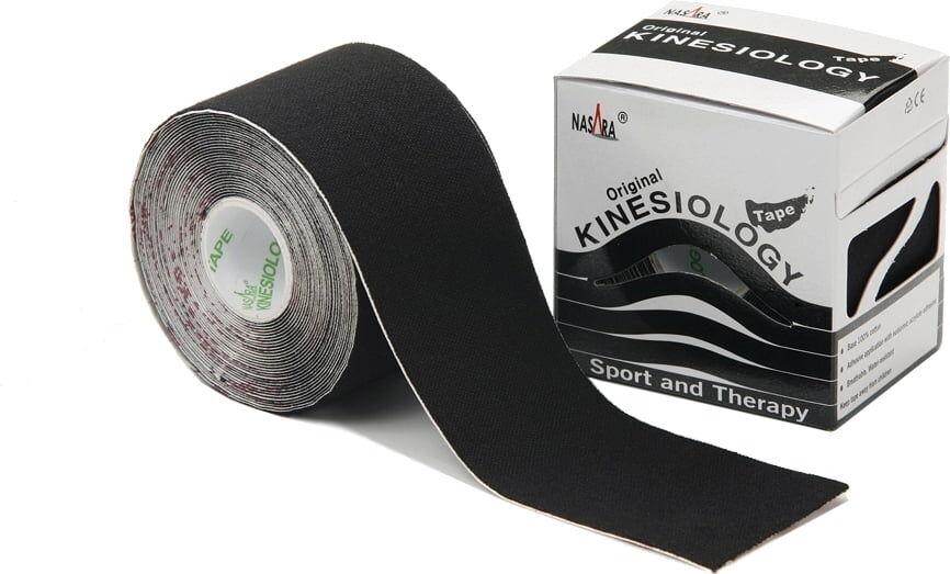 Nasara Tape Elastico 5 cm x 5 m - nero
