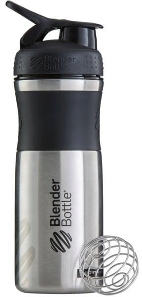 Blender Bottle Stainless Steel Sportmixer 820 ml - Black