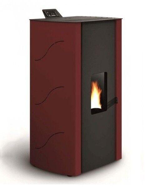 Stufa A Pellet Palazzetti Ecofire Malu' 8,2 Kw Colore Rosso Ad Aria
