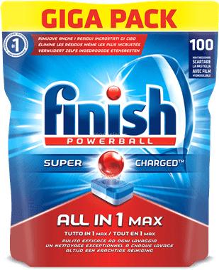 Finish - All In 1 Max - 100 Pezzi