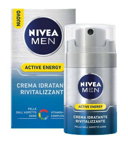 Barba Nivea Men - Crema Idratante Rivitalizzante Active Energy - 50 Ml