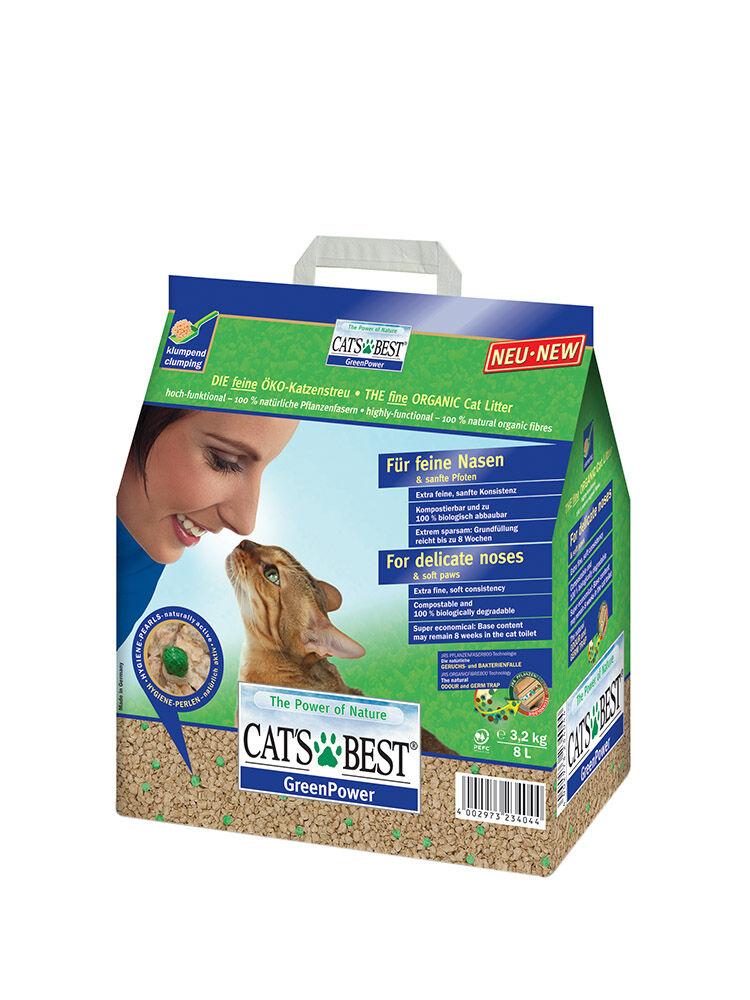 lettiera per gatti jrs cat's best - greenpower 8 l