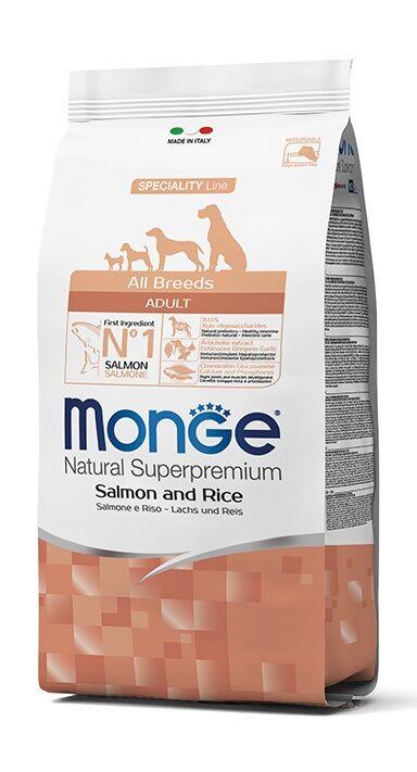 Monge Superpremium Crocchette Per Cani 12kg - Salmone & Riso