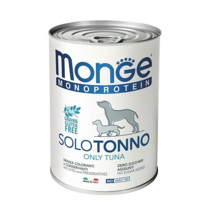 Monge Cibo Umido Monoproteico Per Cani 400 Gr - Tonno - 24 Pezzi