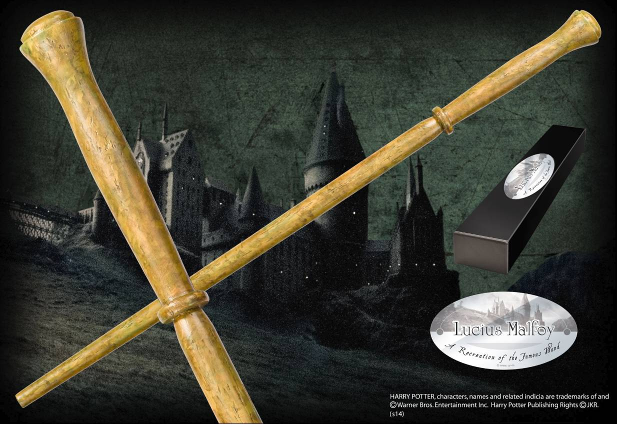 NOBLE COLLECTION Bacchetta Magica Lucius Malfoy Harry Potter Character