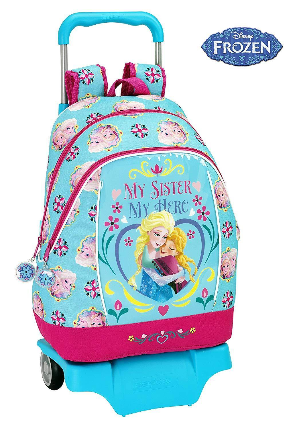 safta zaino trolley scuola frozen rucksack with wheels (big) 33x42x14 cm
