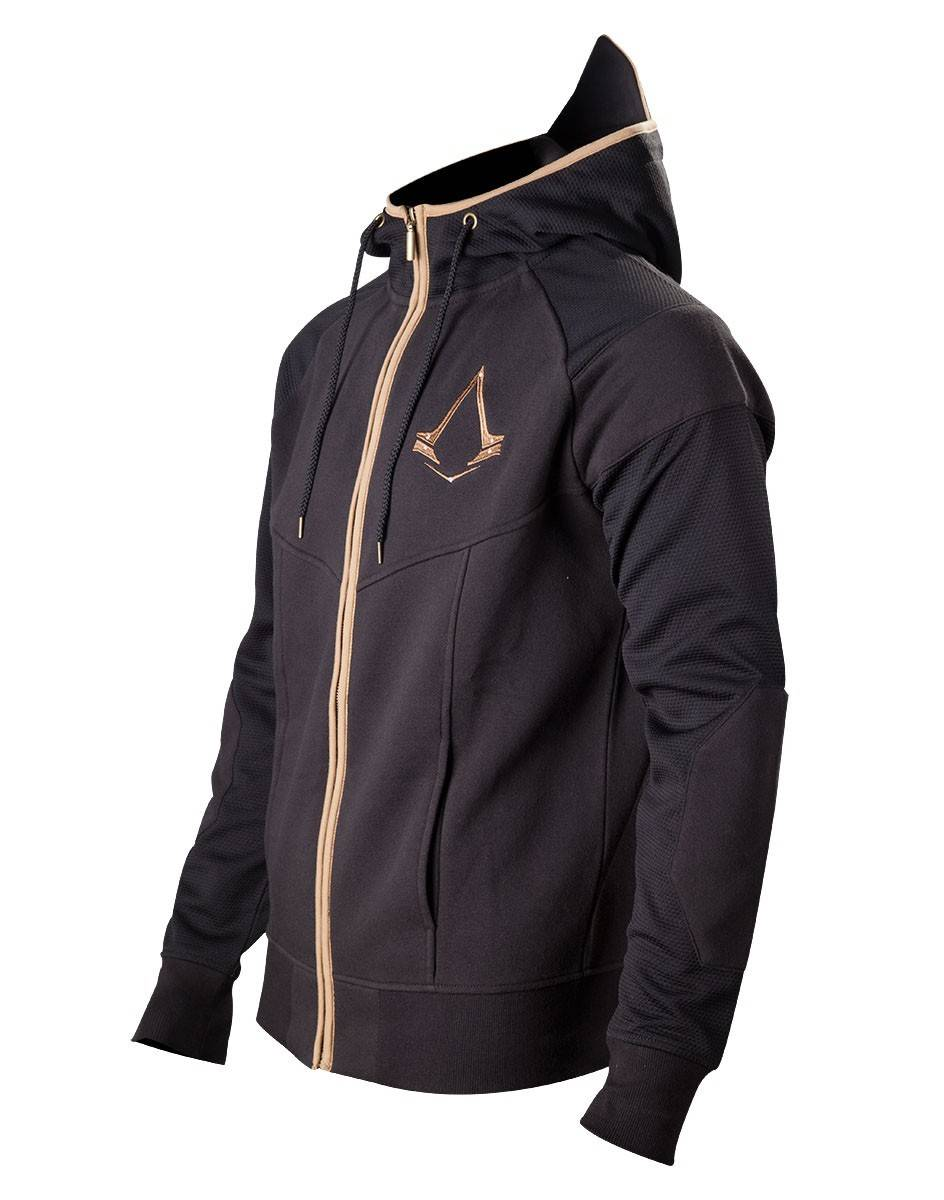 BIOWORLD Assassin'S Creed Syndicate Felpa Zipper Hoodie Bronze Logo Size L