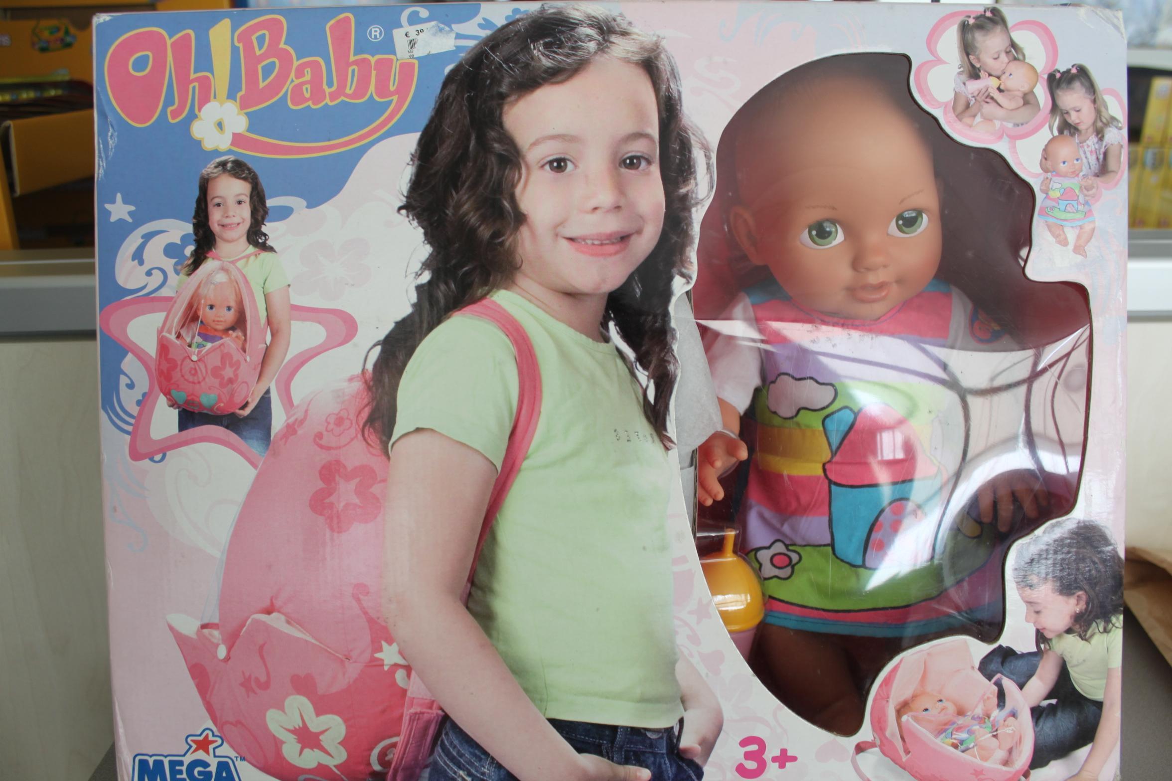 mega bloks - bambola oh! baby con accessori e zaino a trasportino