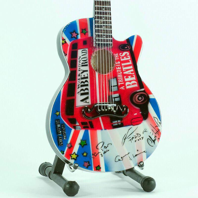 VARI Mini Guitar The Beatles Tribute Abbey Rd Replica