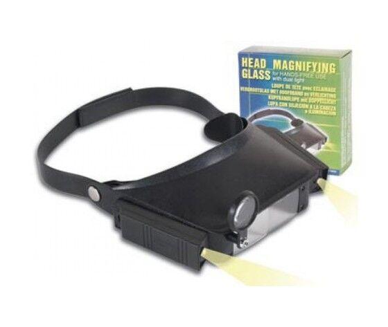 lente ingrandimento per testa + illuminatore