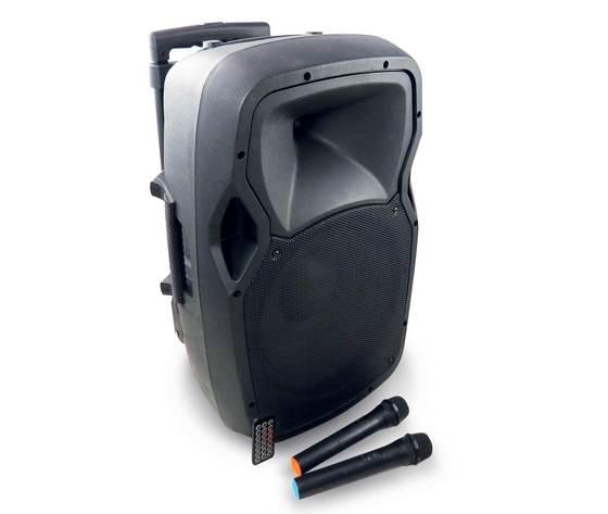 KARMA Diffusore Amplificato Da 120w Con 2 Radiomicrofoni E Bluetooth