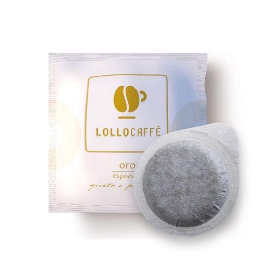 Lollo Caffè 100 Cialde Lollo Caffè Oro Carta Filtro ESE 44 mm