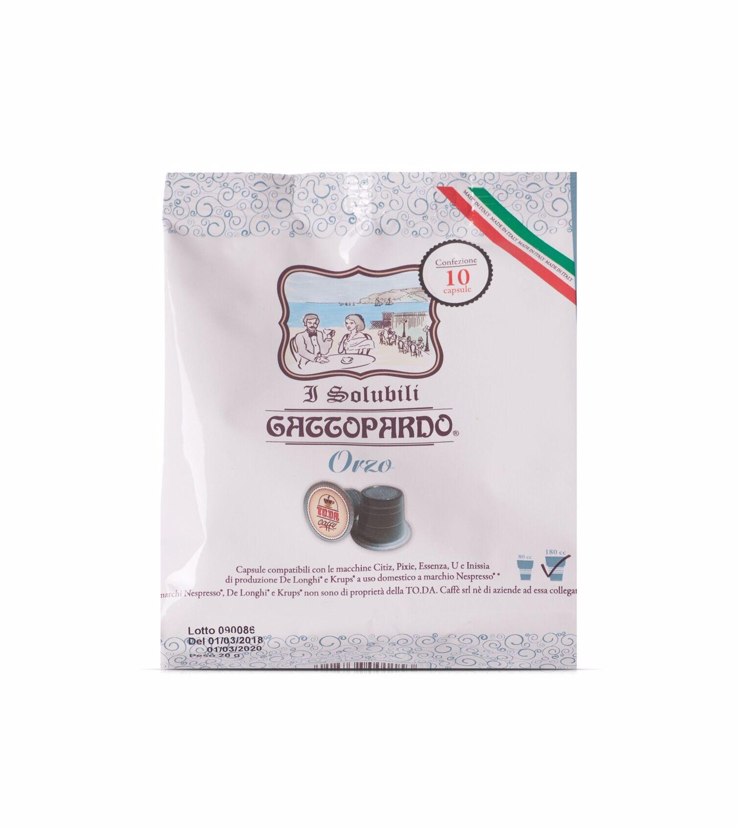 ToDa 10 Capsule ToDa Nespresso Gattopardo di Orzo Solubile Compatibili