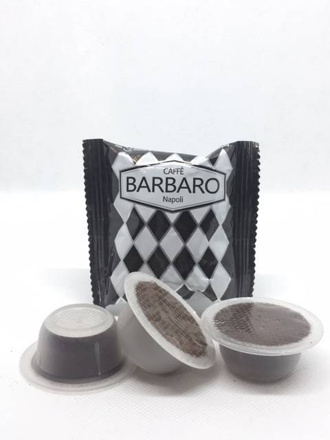 Barbaro 100 Capsule Bialetti Compatibili Caffè d'Italia Barbaro Nera Corposo