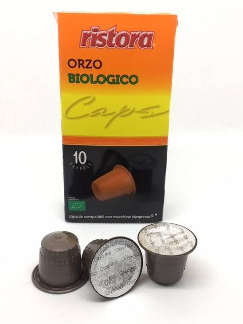 Ristora 10 Capsule Nespresso Caffè d'Orzo Biologico Compatibili Ristora
