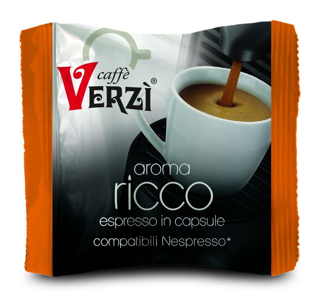Verzì 100 Capsule Nespresso Compatibili Ricco Verzi Caffè