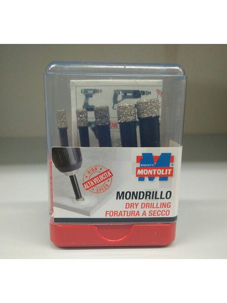 Montolit 5 foretti diamantati ad umido e secco set FAJVA Montolit