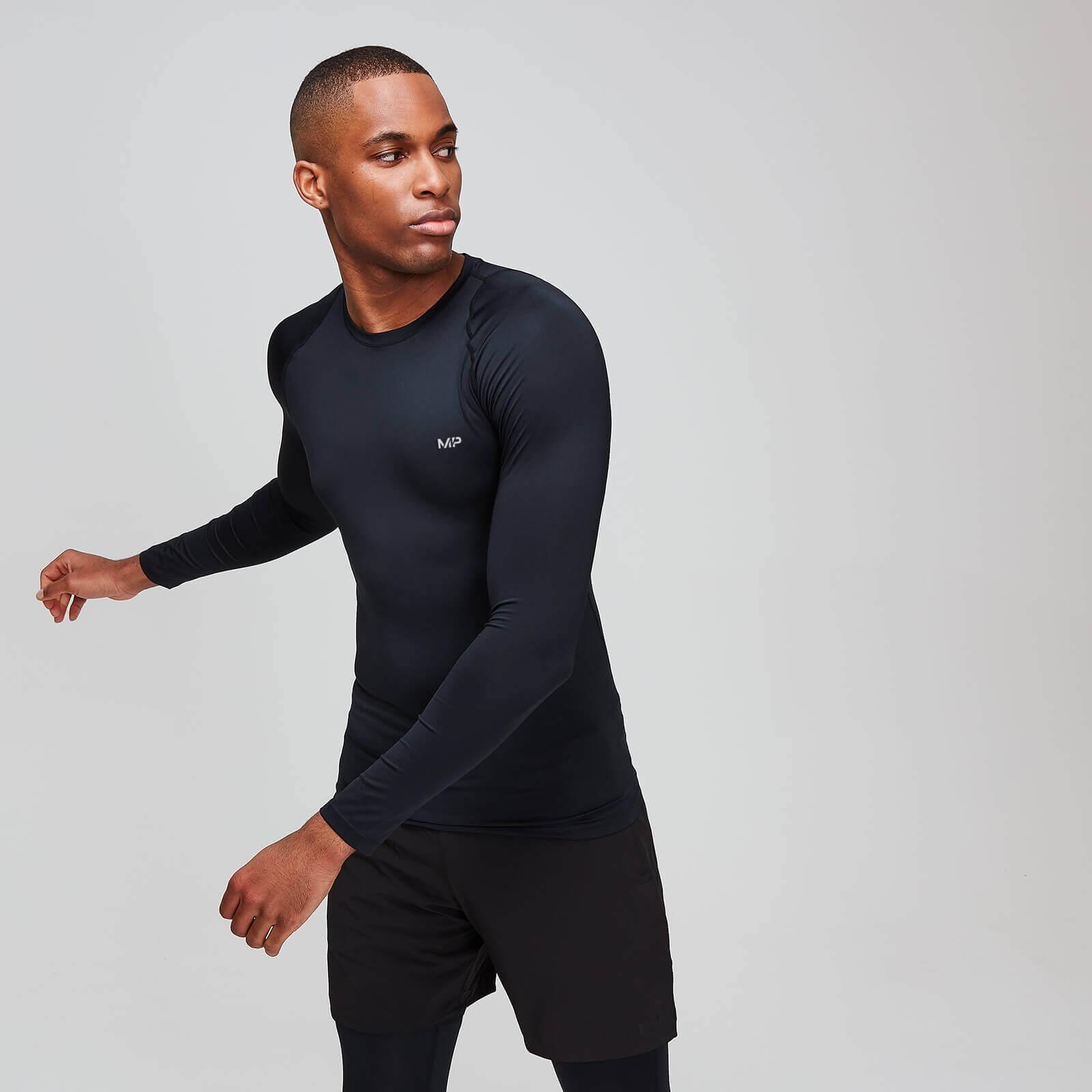 Mp Maglia sportiva attillata a maniche lunghe Essentials Base da uomo - Nera - XL