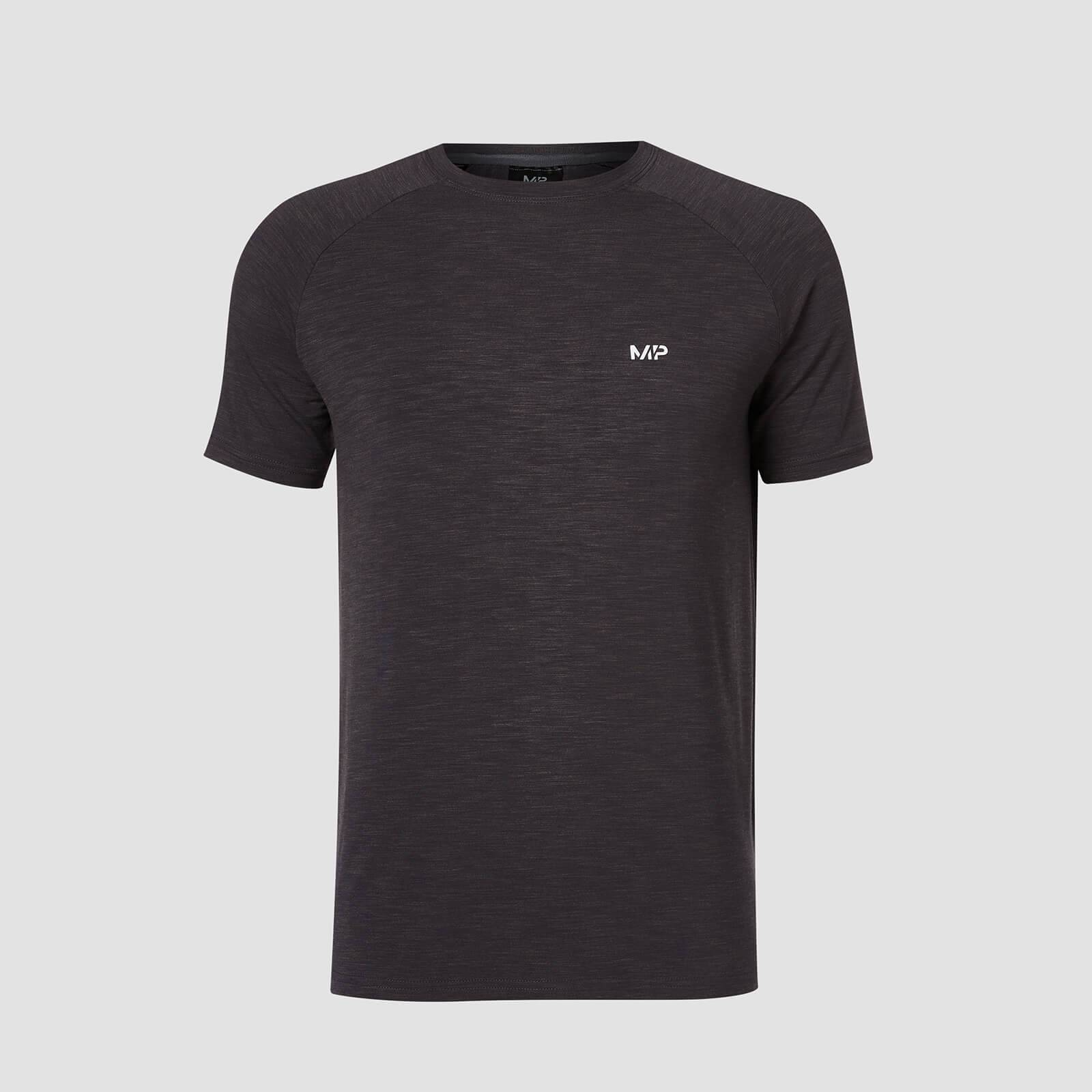 Myprotein T-shirt Performance Short Sleeve MP - Nero/Carbone - XS