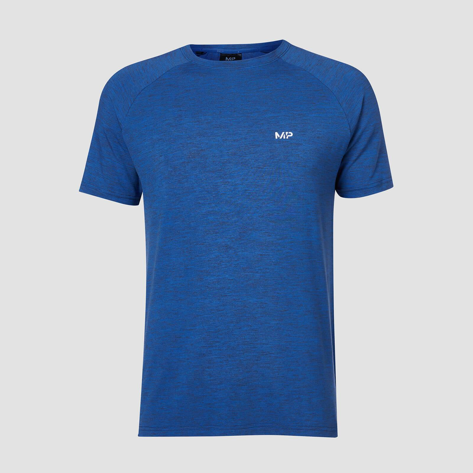Myprotein T-shirt Performance Short Sleeve MP - Blu cobalto/Nero - L