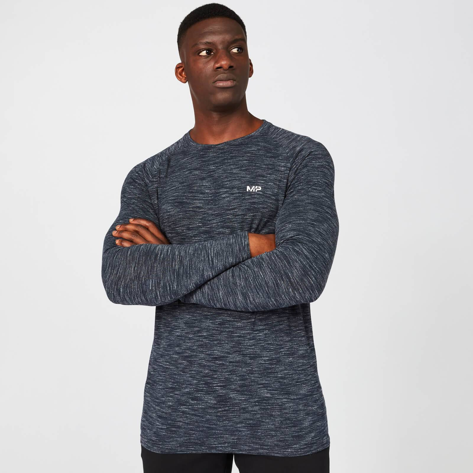 Mp Men's Performance Long Sleeve Top - Navy Marl - L