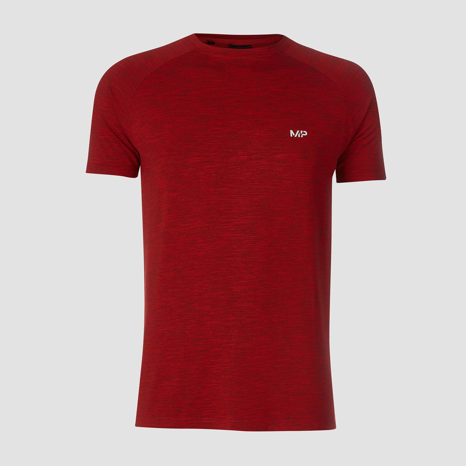 Myprotein T-shirt Performance Short Sleeve MP - Rosso acceso/Nero - XXL