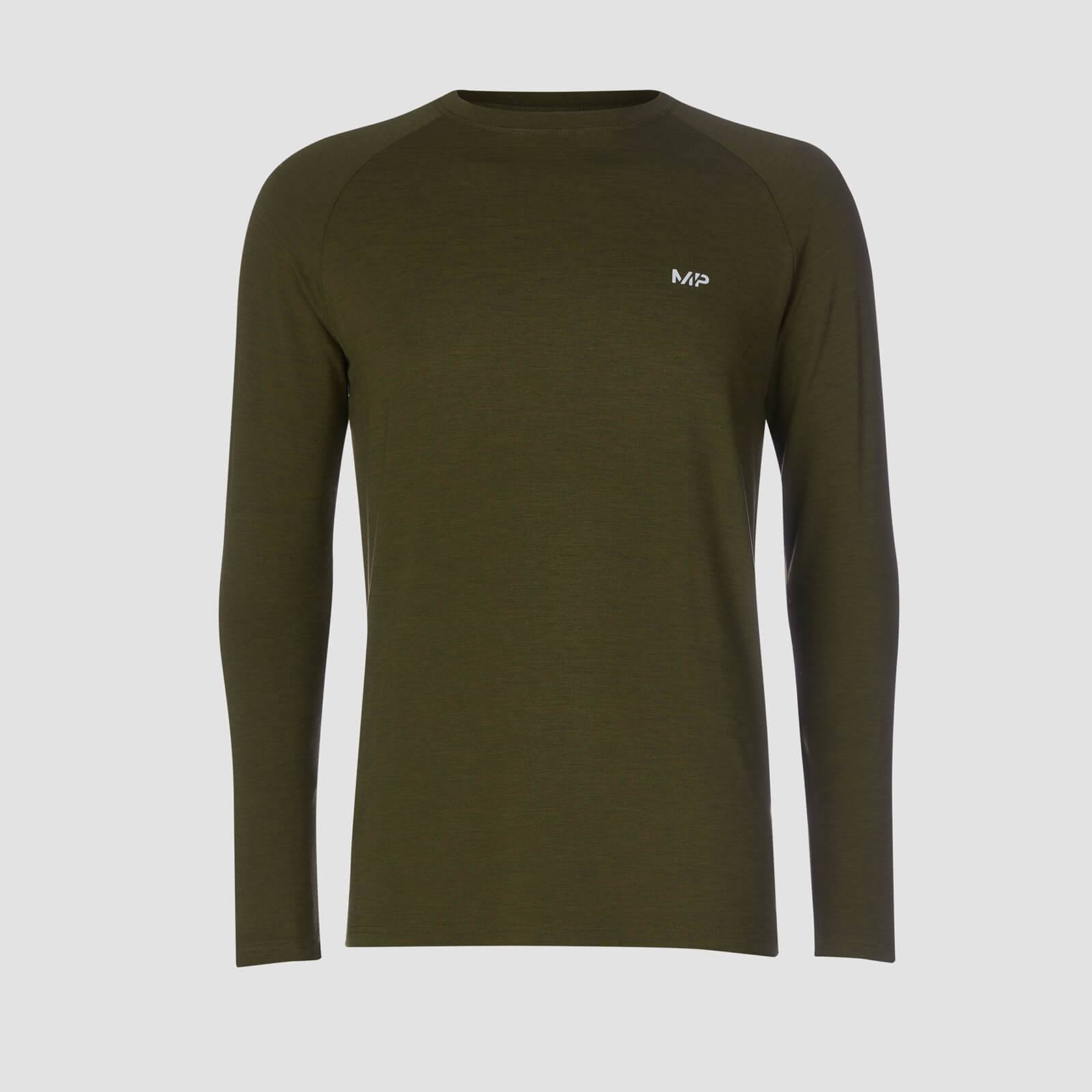 Myprotein T-shirt Performance Long Sleeve MP - Verde militare/Nero - XL