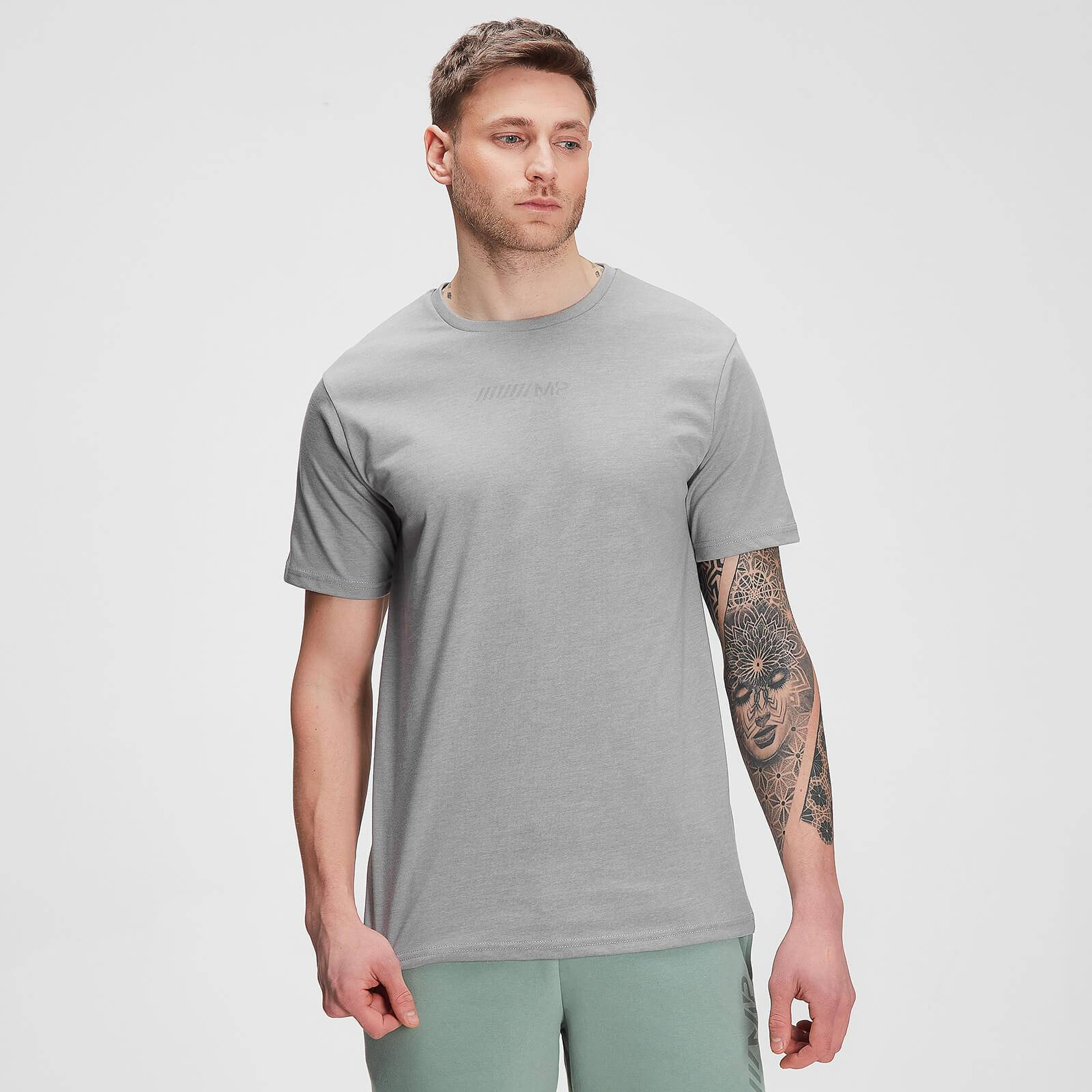 Mp Men's Tonal Graphic Short Sleeve T-shirt – Storm Grey Marl - XXS