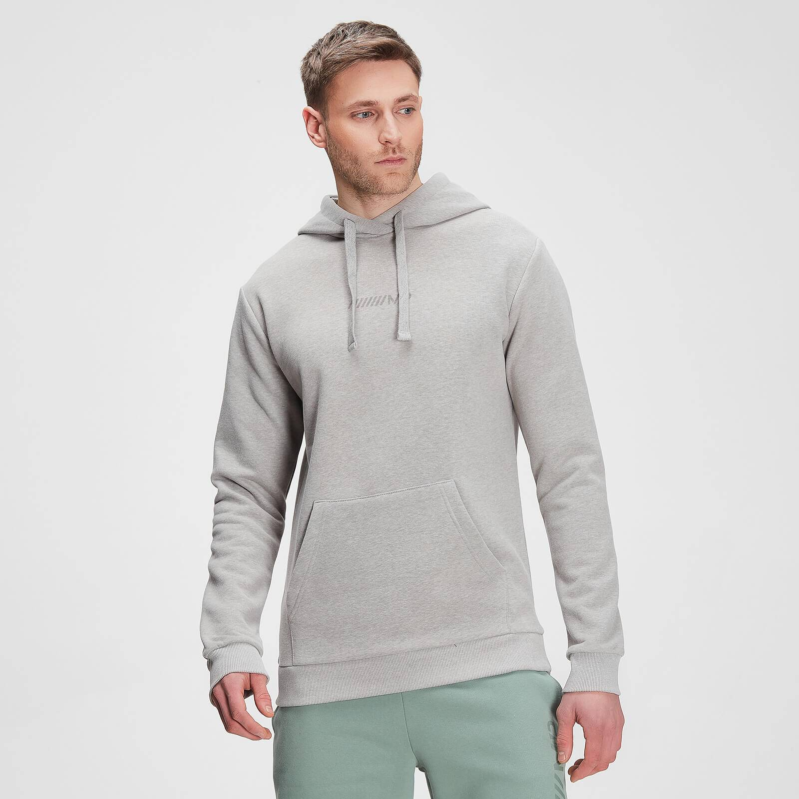 Mp Men's Tonal Graphic Hoodie – Storm Grey Marl - XXS