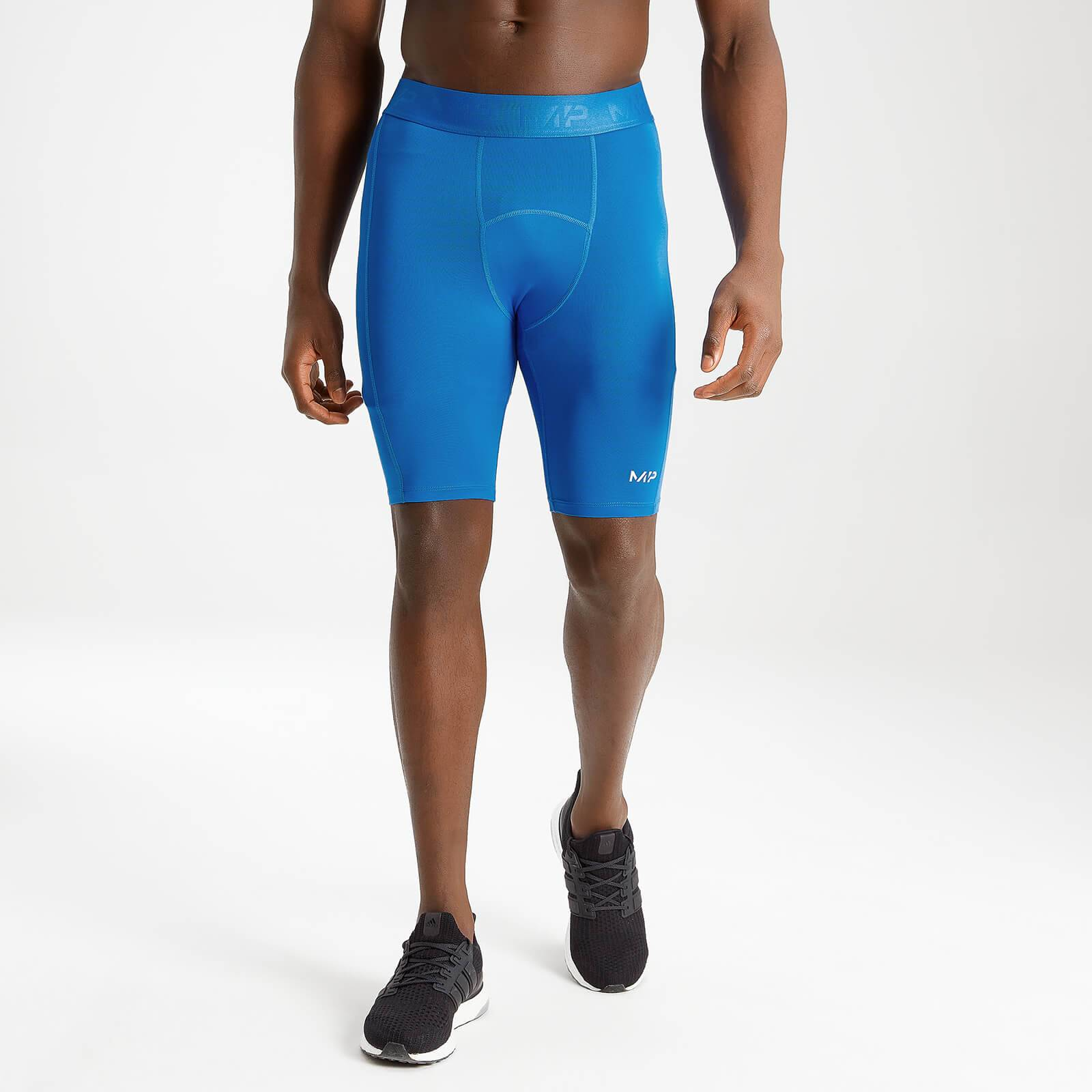 Mp Men's Essentials Training Baselayer Short - True Blue - L
