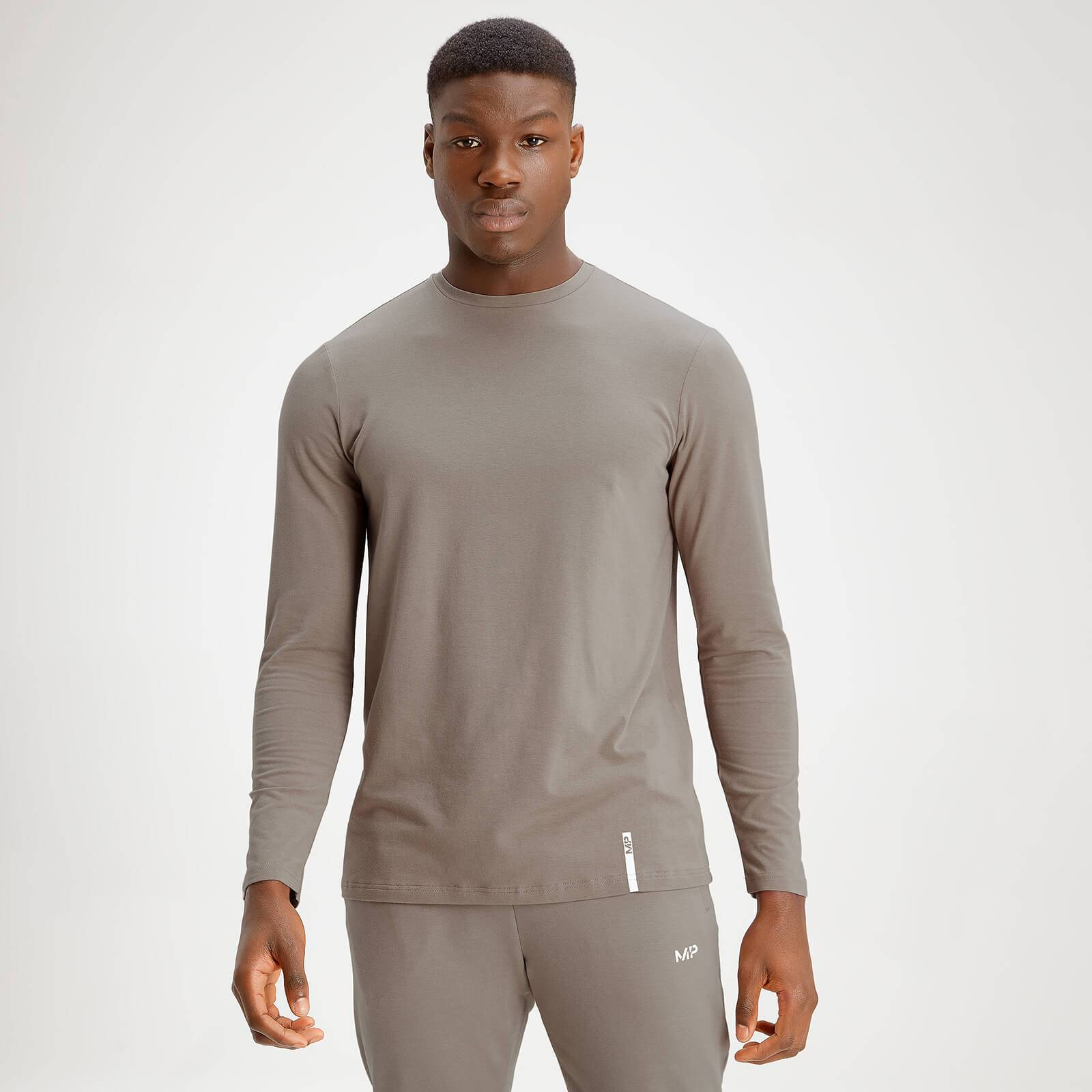 Mp Men's Luxe Classic Long Sleeve Crew Top - Taupe - XXXL