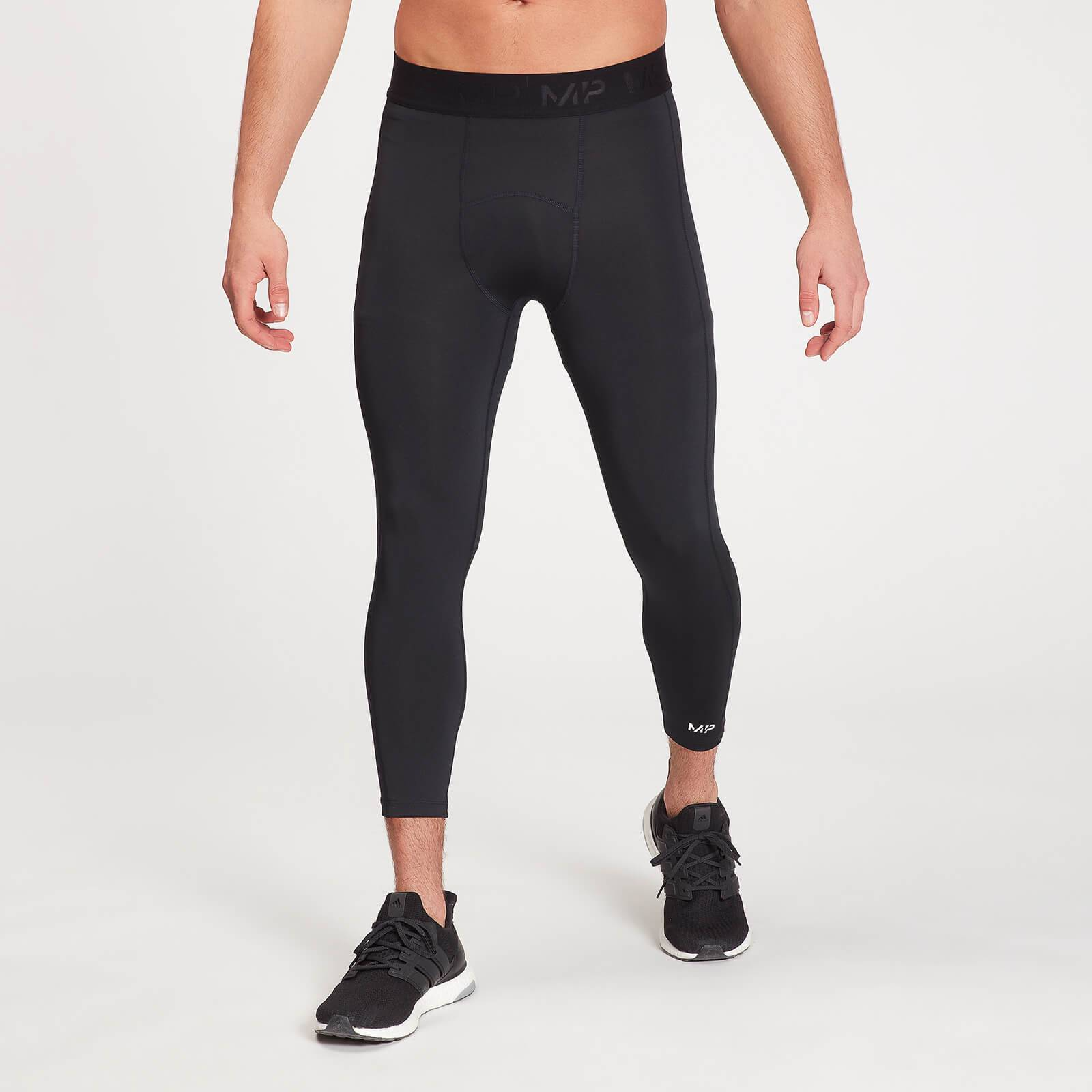 Mp Leggings sportivi attillati a 3/4  Essentials Base da uomo - Neri - XXL